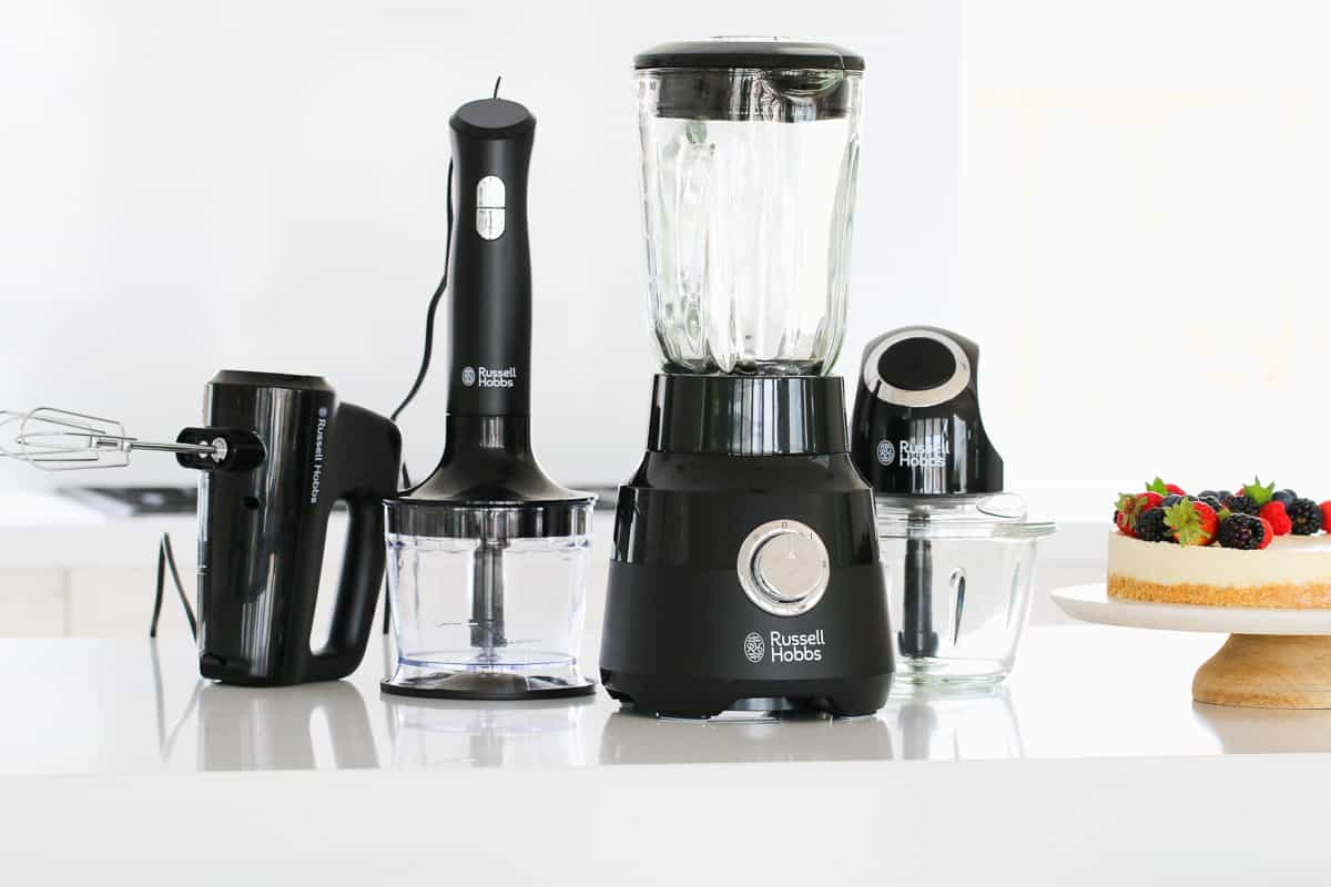 The Russell Hobbs Desire Matte Collection range of kitchen products.