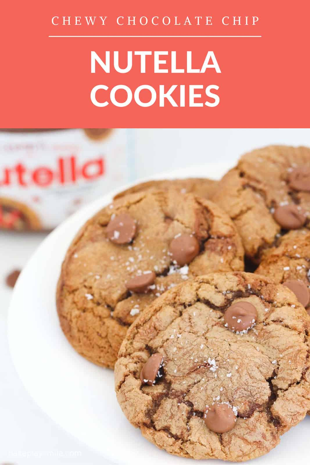 A Pinterest image with the text overlay Nutella Cookies