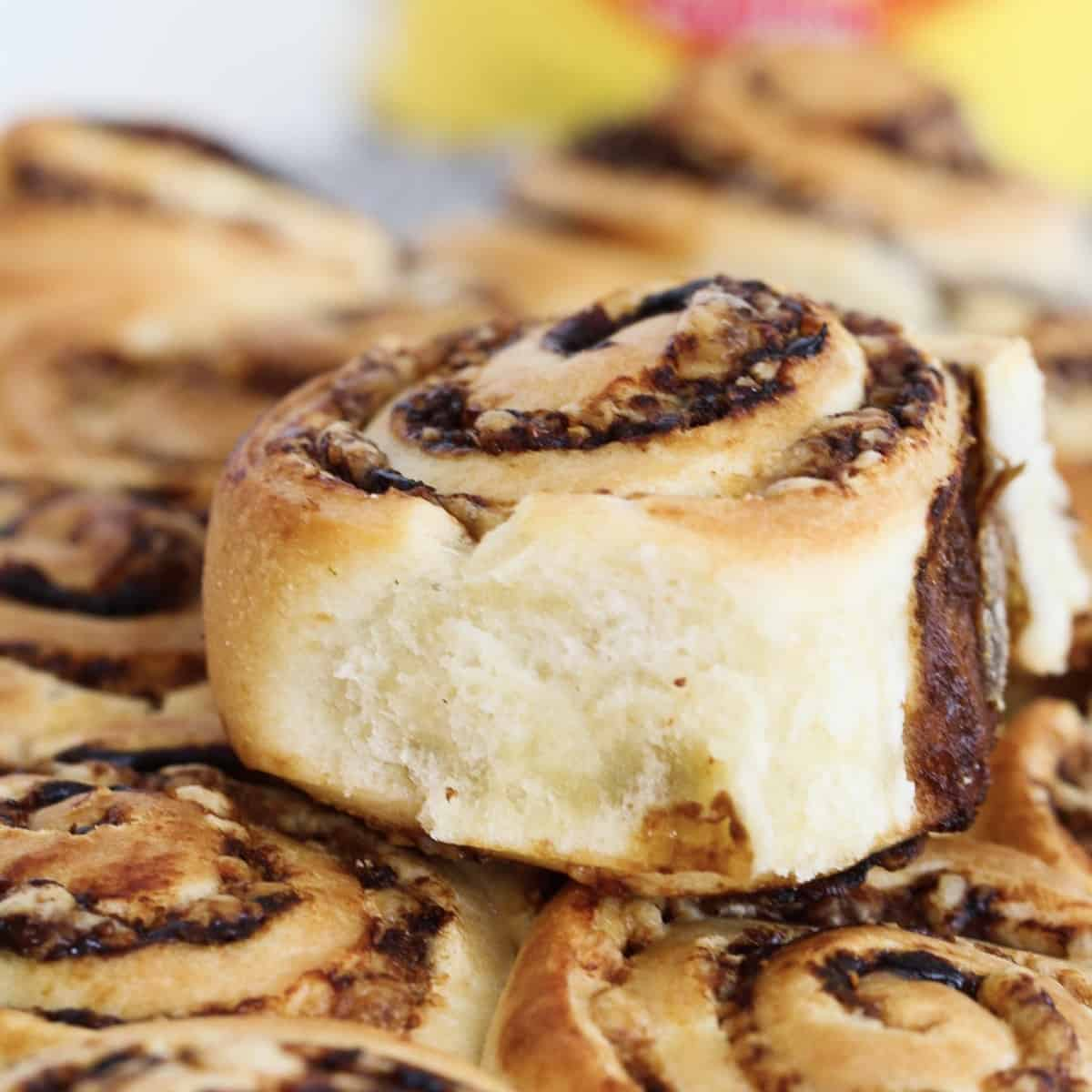 A pile of cheese and vegemite scrolls.