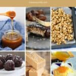 A collage of images of food inspired by salted caramel.