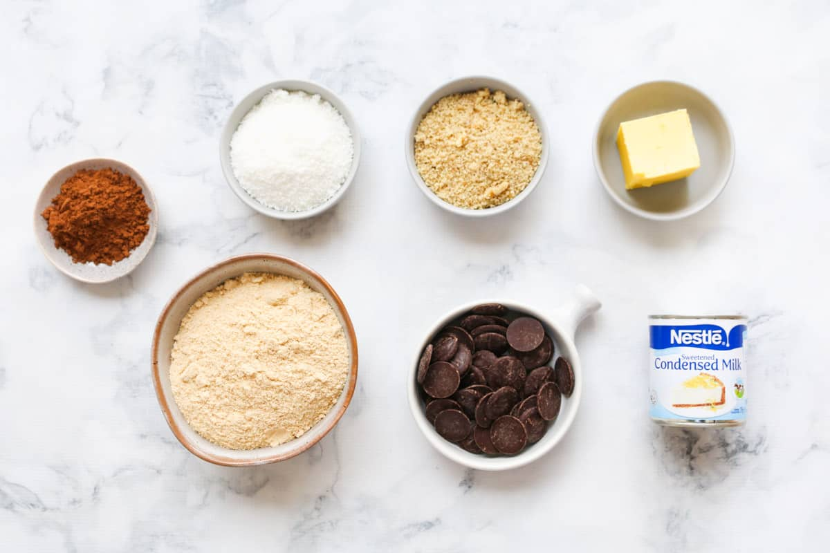 The ingredients for chocolate hedgehog slice.